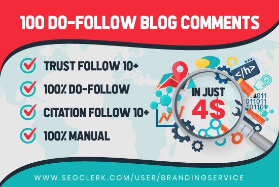 I'll manually build 100 high quality dofollow blog comments