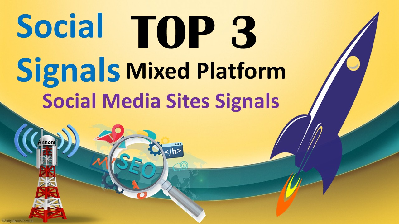 TOP 3 Platform 13,000 Social Signals From Pinterest,  Facebook,  Tumblr