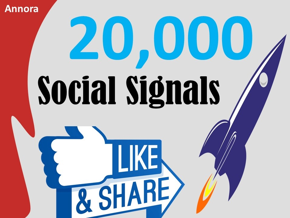 Cheap Price 20,000 Social Signals Come From Top 1 Social Media Sites PR9 Facebook Social Bookmark