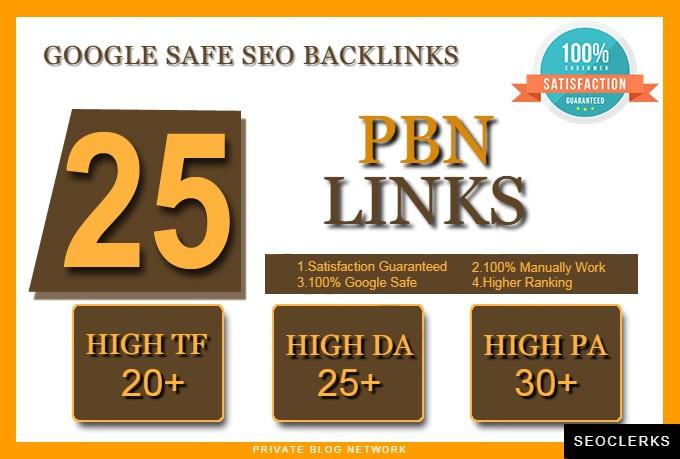 Make 25 Pbn Links High Tf Cf Da Pa Parmanent Seo Backlinks