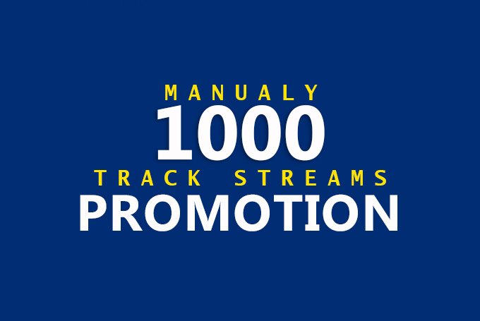Do Massive 1000 Music Promotion To Your Track Streams