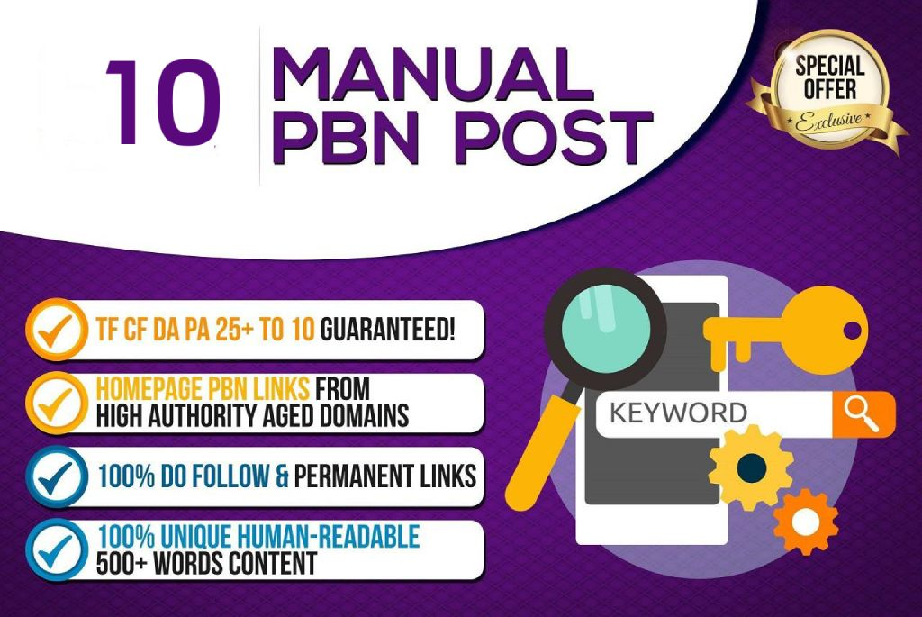 Create 10 High Quality PBN - DA 20+ PA 30+ Dofollow Permanent Home page