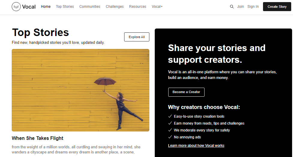 Write & Publish high quality dofollow guest post on Vocal. Meida Real Traffic