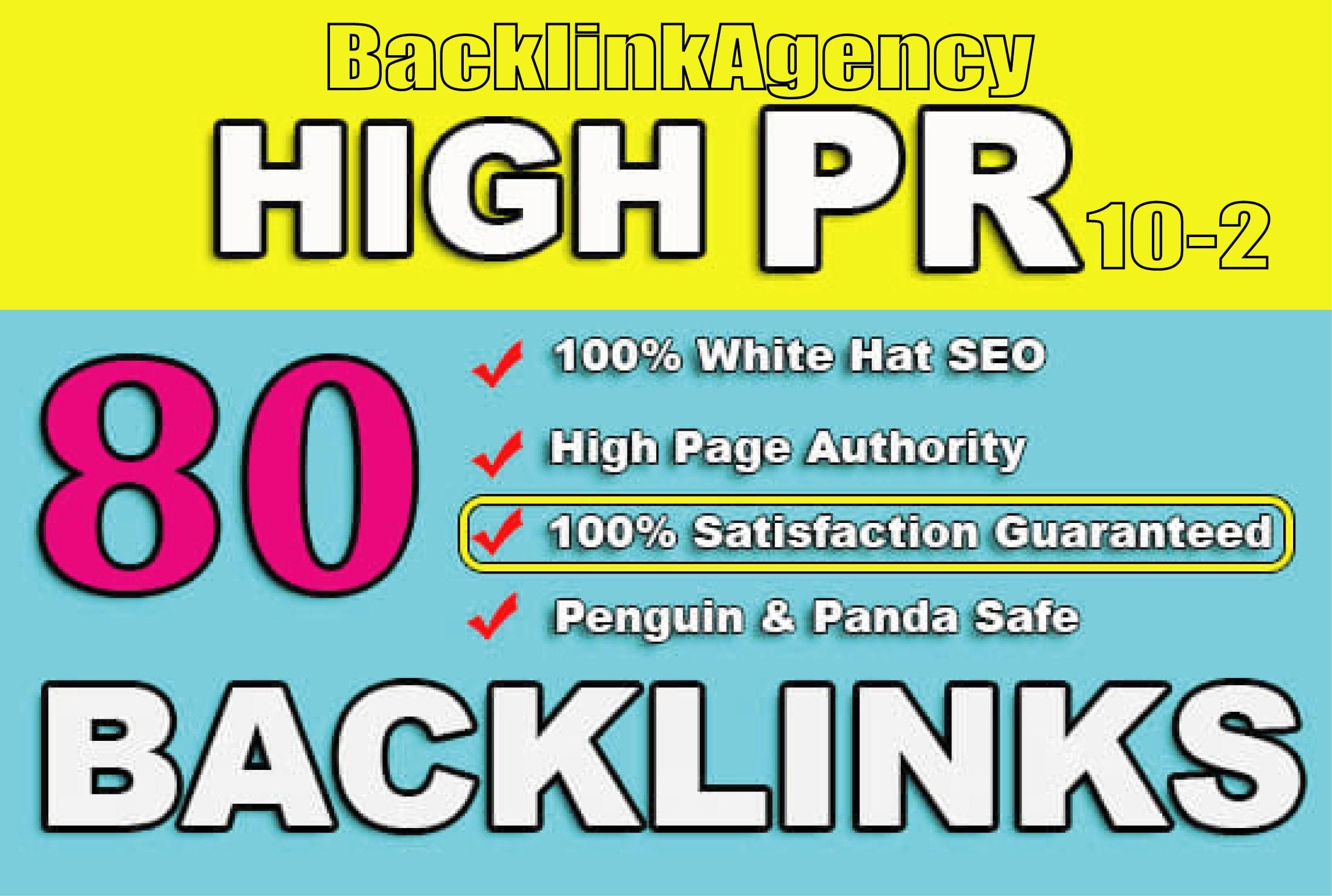 I will build high da pa 80 pr9 to pr3 seo dofollow backlinks