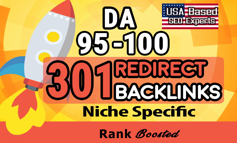 Premium 301 redirect backlink from high authority da 100 website