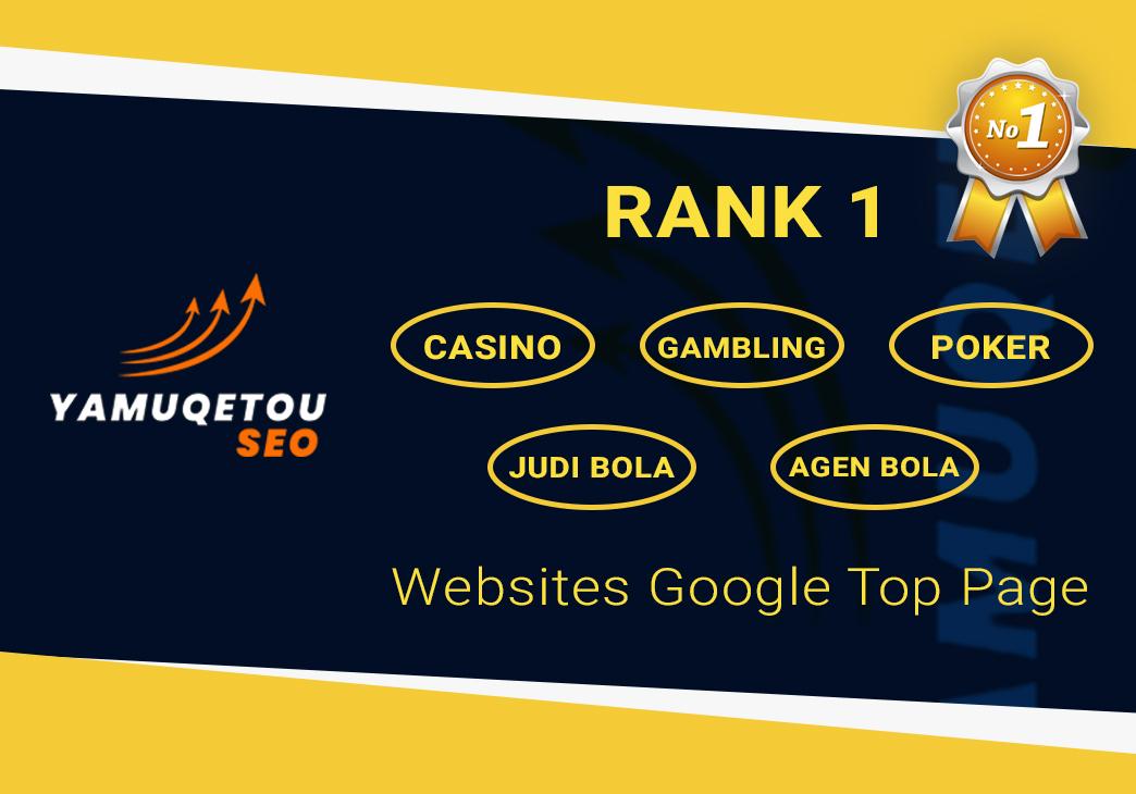 RANK 1 Casino,  Gambling,  Poker,  Judi Bola,  Agen Bola,  Websites Google Top Page