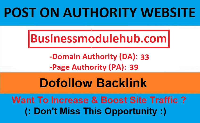 Publish Guest Post On Businessmodulehub. com