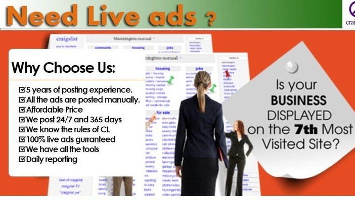 Craigslist ad posting in Top USA Site for $10 - SEOClerks