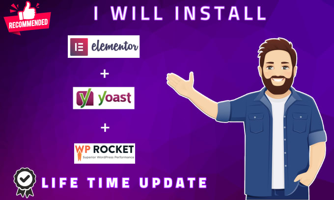 install elementor pro wprocket and yoast premium lifetime