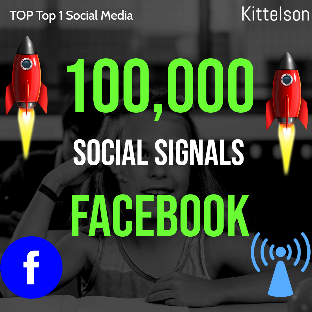 100,000 Social Signals Come From Top 1 Social Media Sites