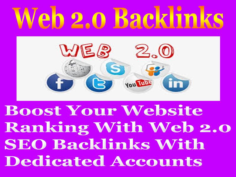 Create Manually 50 Web 2.0 PERMANENT SEO BACKLINKS