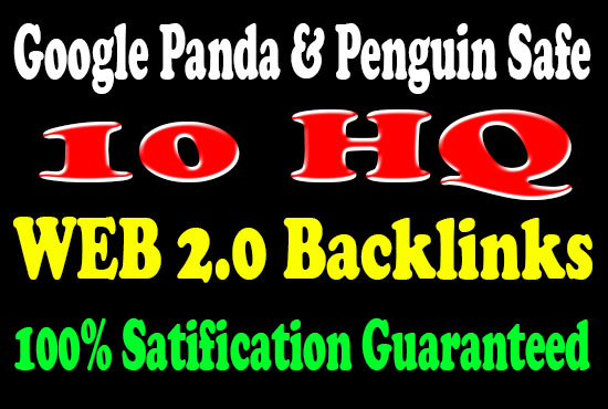 Create Manually 10 Web 2.0 PERMANENT SEO BACKLINKS