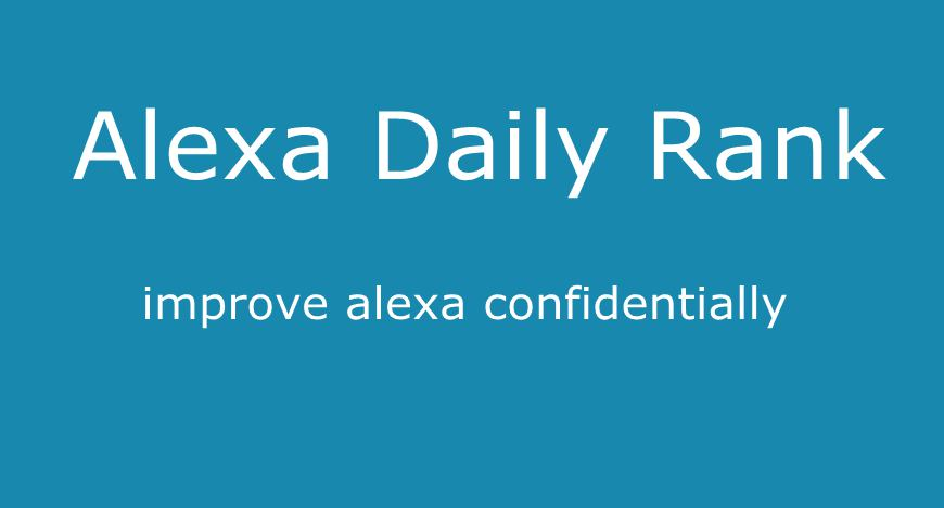 Boost Alexa Daily Rank 100,000 1 Month For Your WebSite