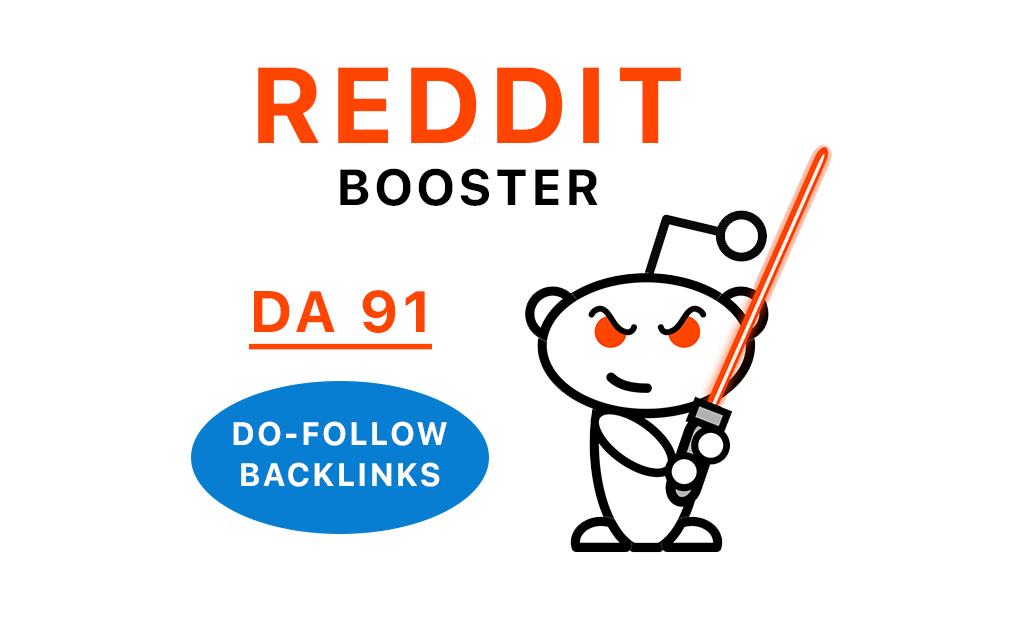 DOFOLLOW Reddit DA 91 Links Reddit Booster Service