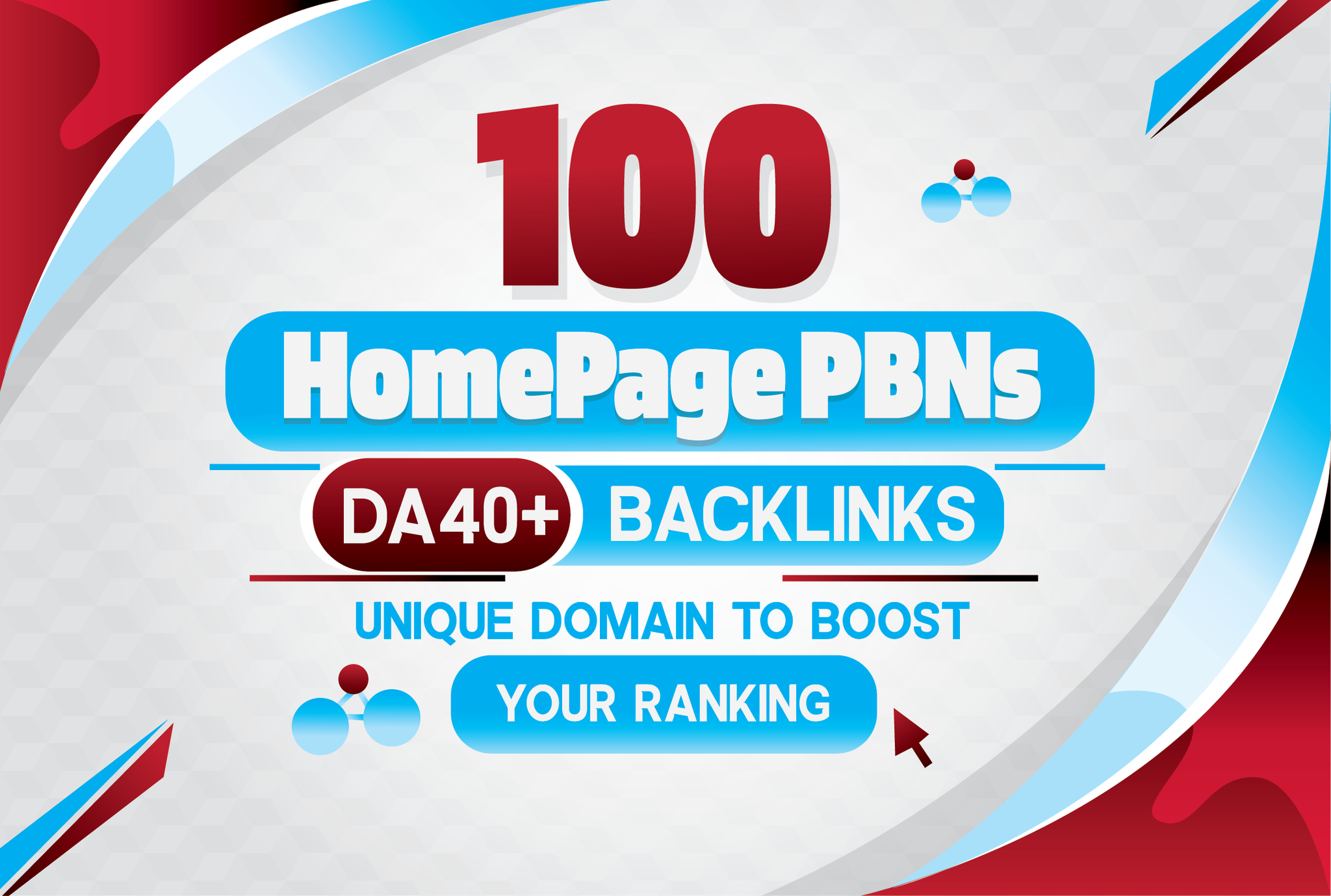 Build 100 Powerful Homepage PBNs On DA40+ Unique websites