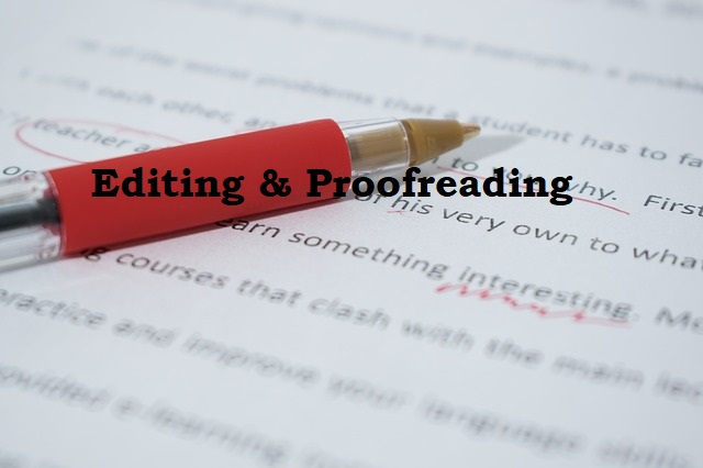 I will proofread,  edit your work today