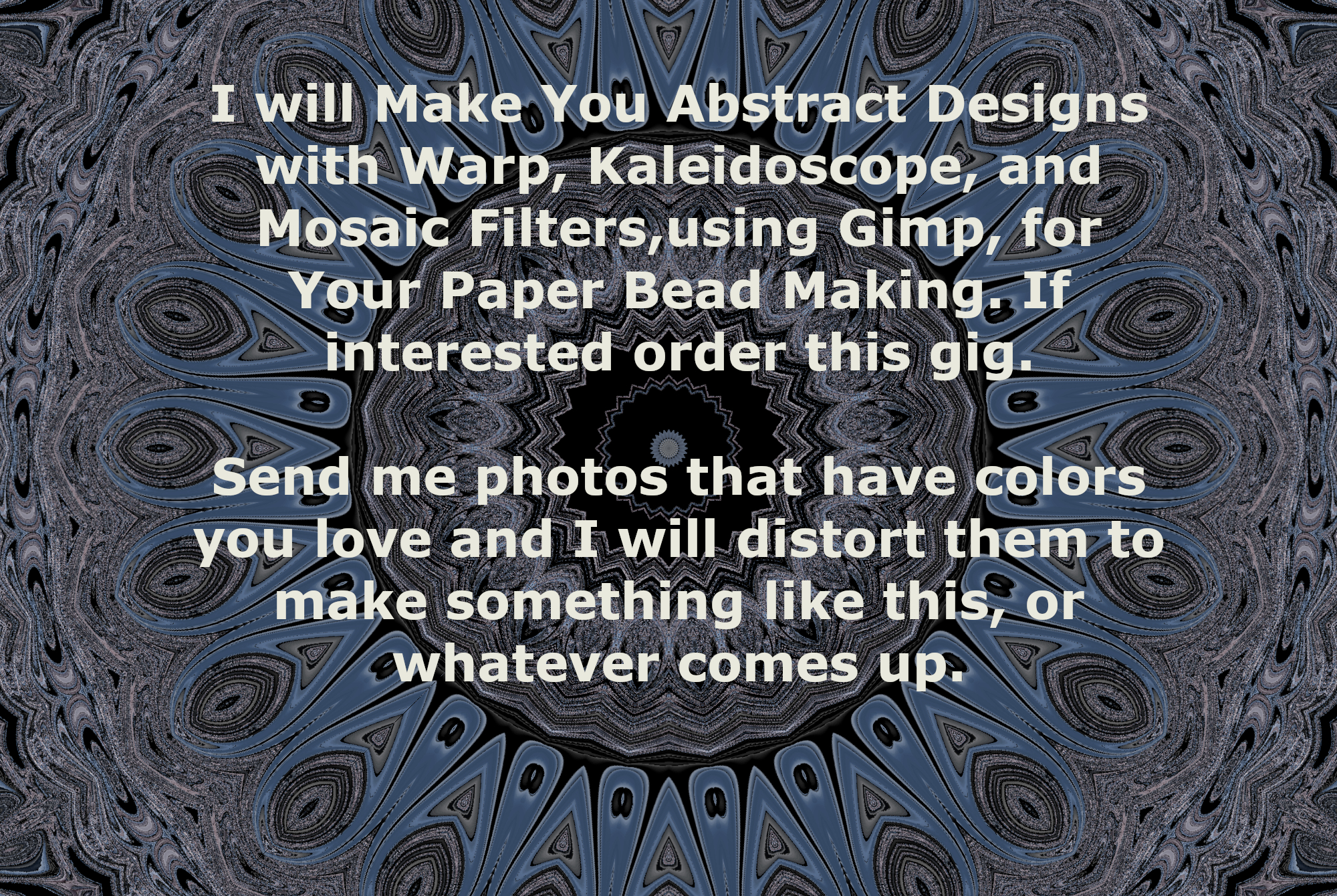 I Will Make you 10 Abstract Designs Using Gimp for your Paper Bead Making