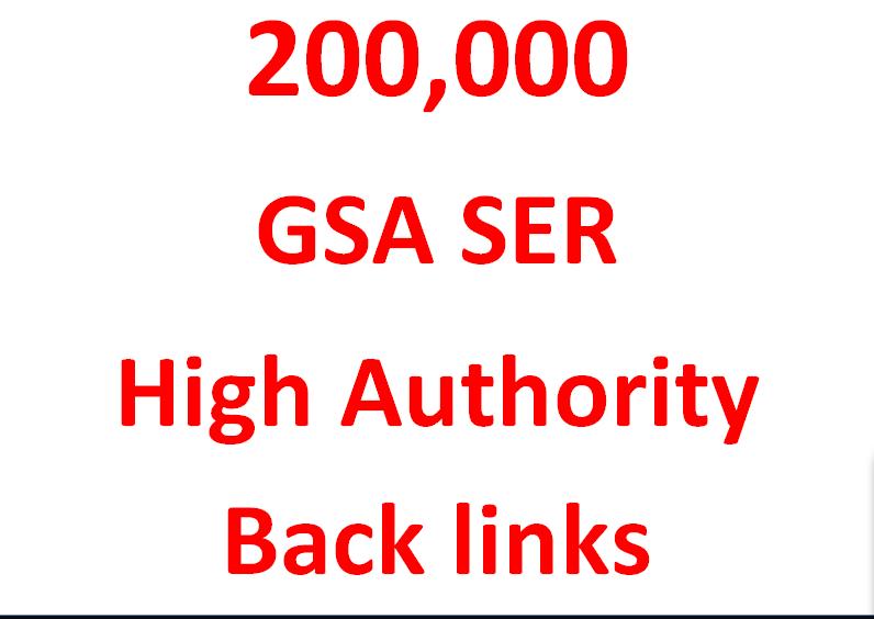 I will provide 200K GSA ser Authority Backlinks