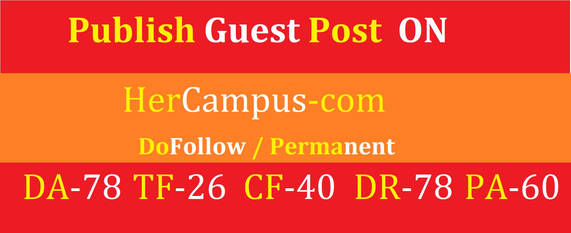i will write & Publish guest post on hercampus. com da78 cf40 dr