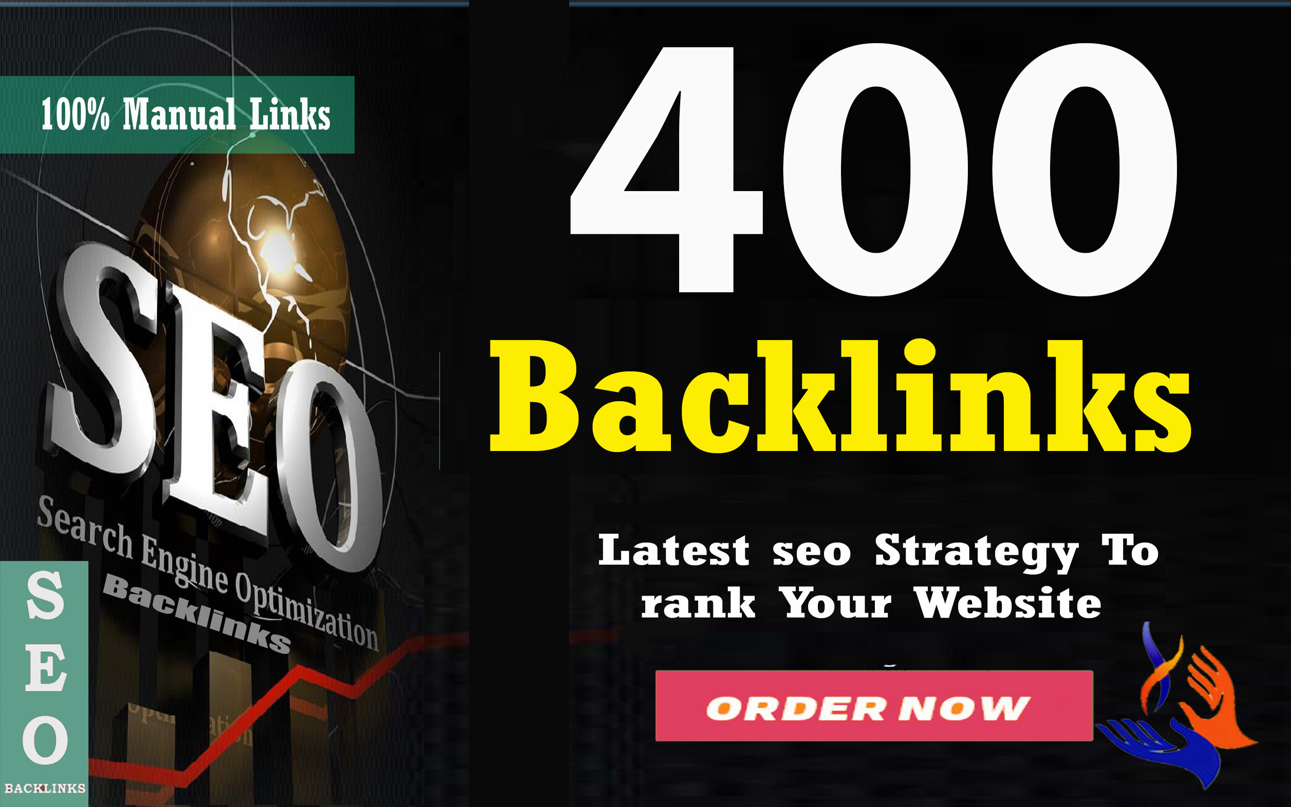 Build seo 400 dofollow backlinks, google ranking, link building service