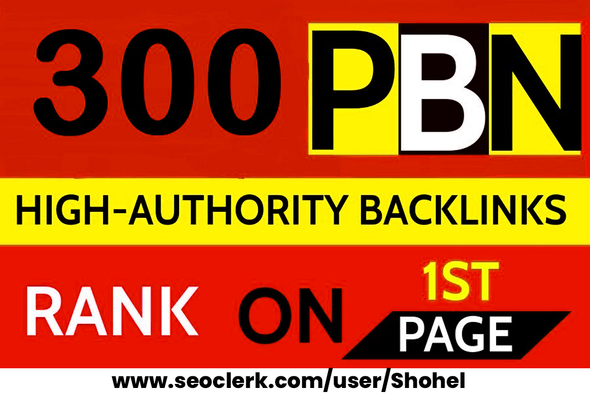 300 Permanent DR 66 Homepage high quality PBN Dofollow Backlinks RANK ON 1ST