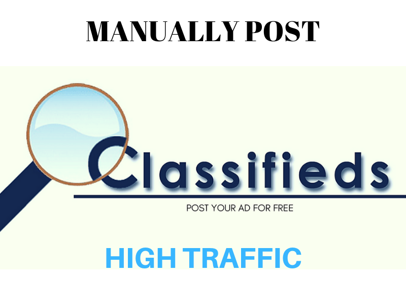 Manually Post Your Ads On 50 Classified Sites
