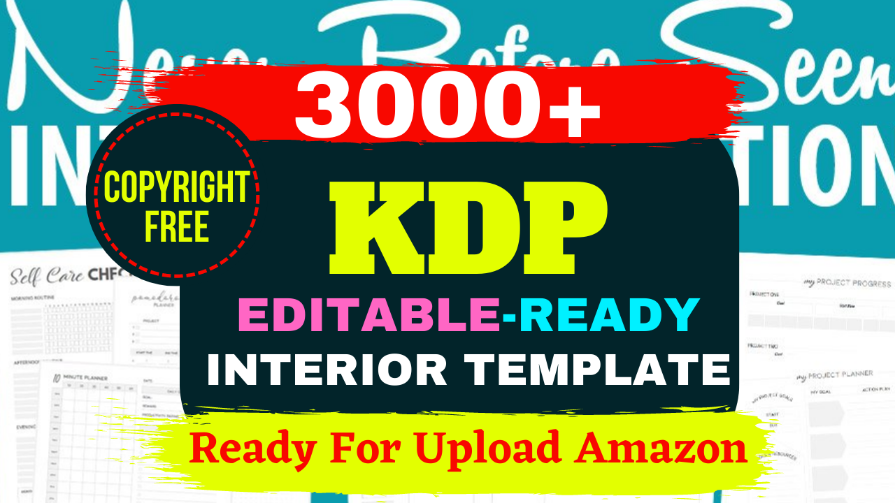 KDP 3000+ Mega Editable Bundle Ready Templates