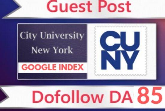 Guest posting on DA 85 on EDU blog with dof0ll0w backlinks