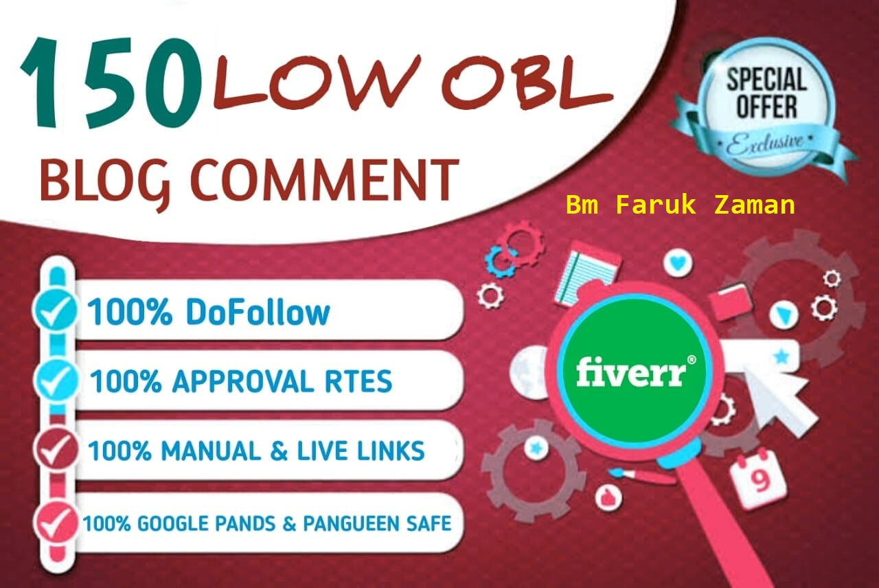50 unique domain high da 50+ dofollow blog comments backlinks