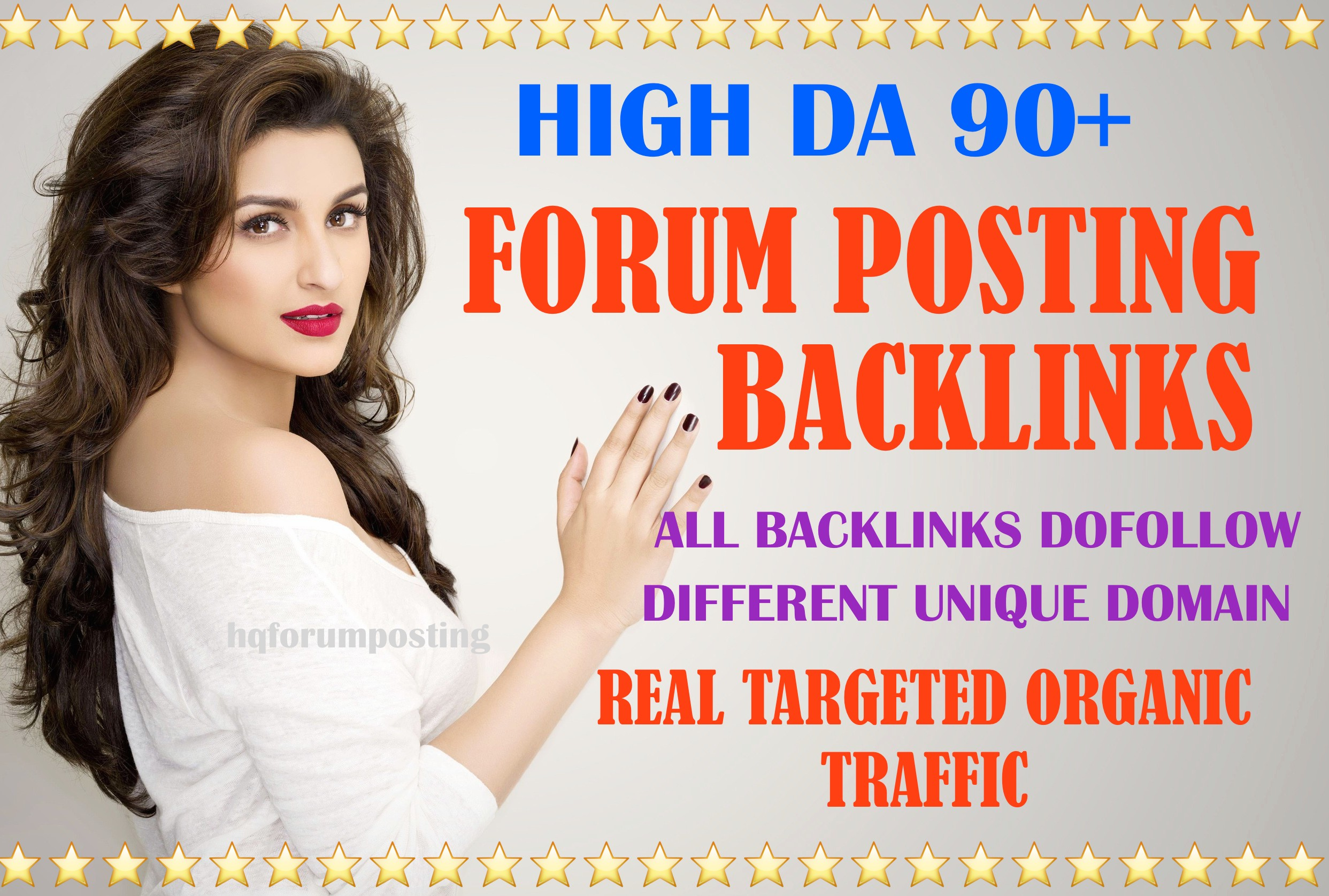 20 High authority DA 50+ forum posting backlinks
