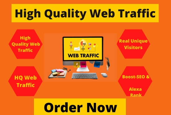 High quality Web traffic - Real visitors to your website