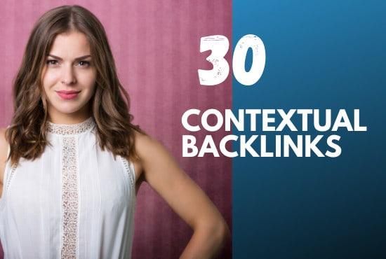 I will do 30 SEO contextual backlinks