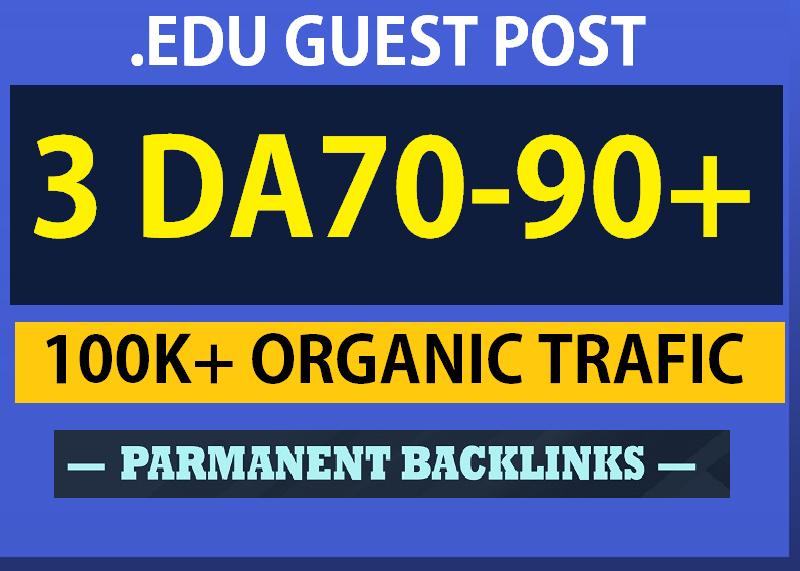 Write & publish 3 Quality. Edu Guest Post DA 70+