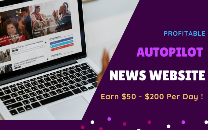 I will create an autopilot news website with google news approval