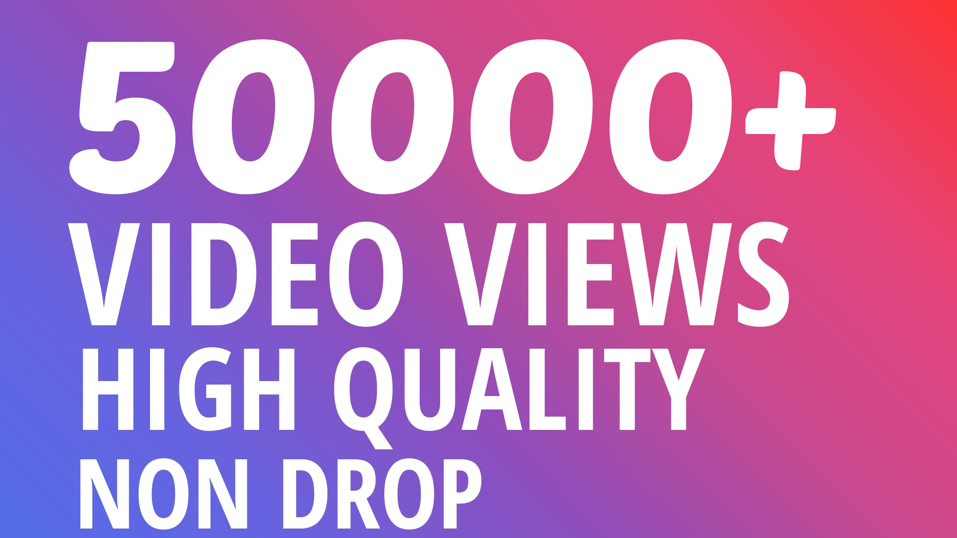 Add Fast 50000+ High Quality Social Video Views Fast and Stable Lifetime