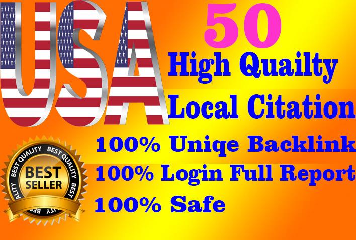 I will Create 50 Best USA High Quality local citation