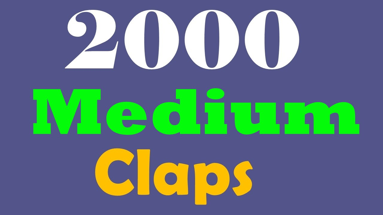 QUICKLY 2000+Medium Claps to Your Article With Fast Delivery