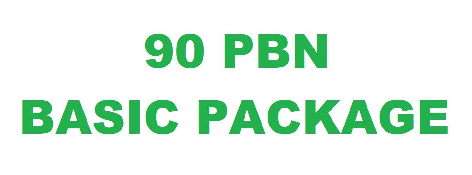 90 PBN Basic Package DA 20-30 PA 40-60 Unique Link GUARANTEED