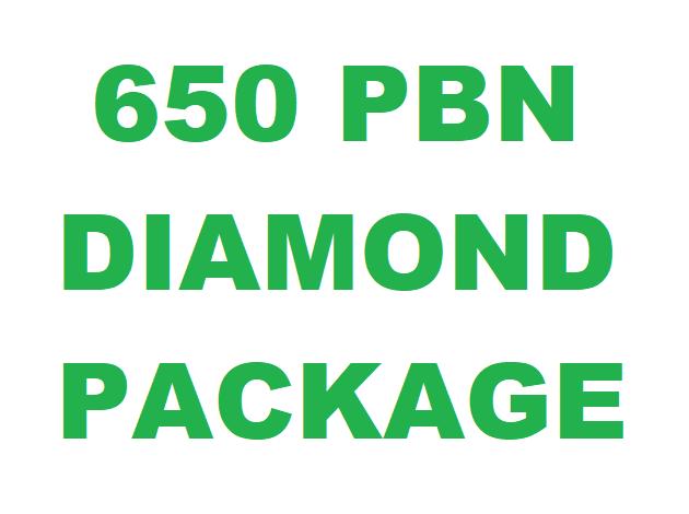 650 PBN Diamond Package DA 20-30 PA 40-60 Unique Link GUARANTEED