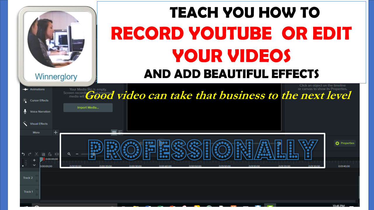 will teach how to record youtube video or edit with effects