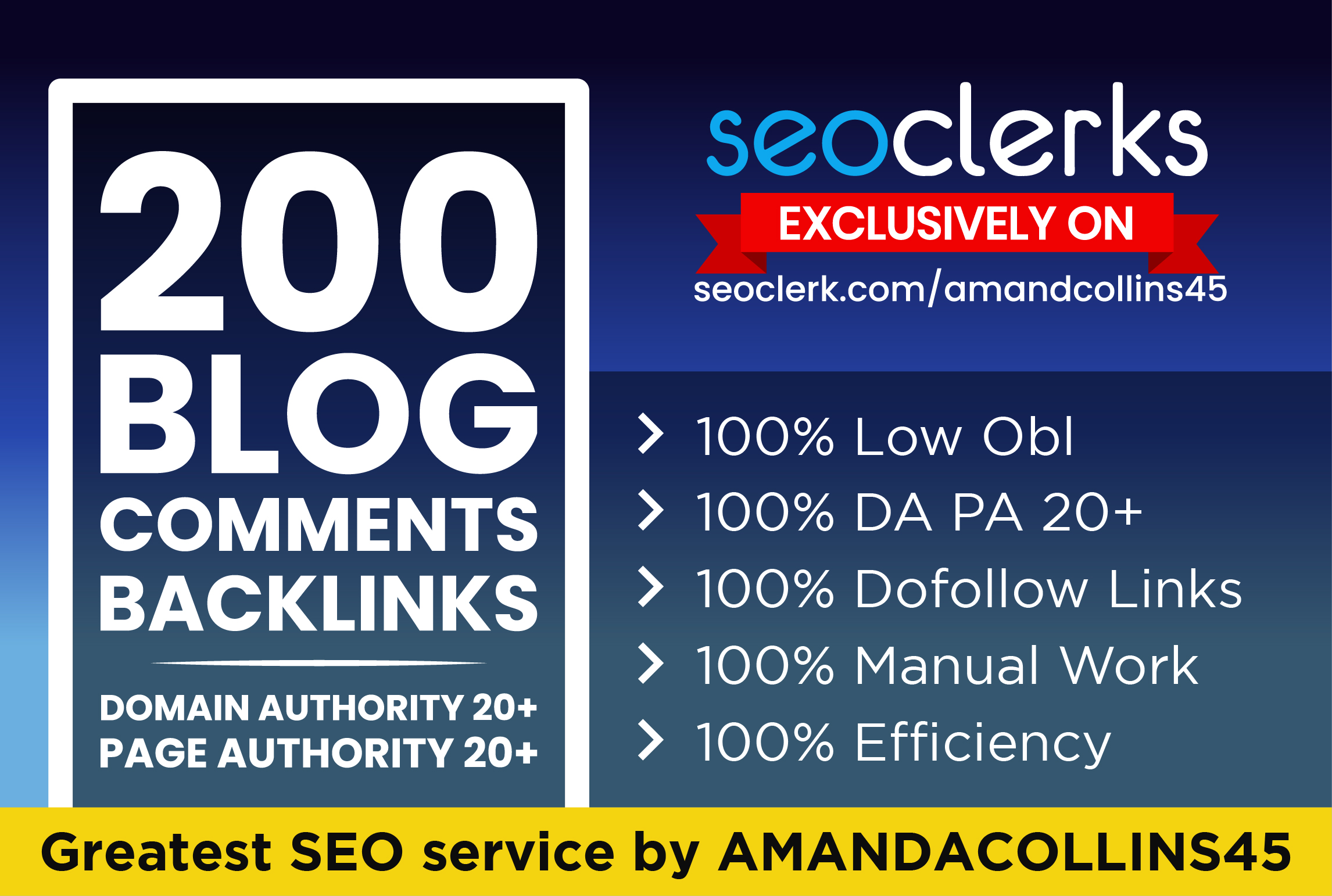 manually create 200 dofollow blog comments backlinks