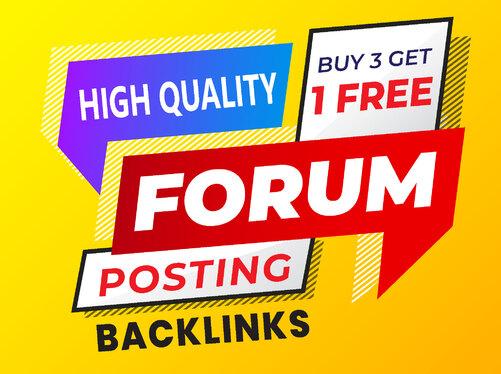 I will provide 50 top brand HQ forum posting backlinks