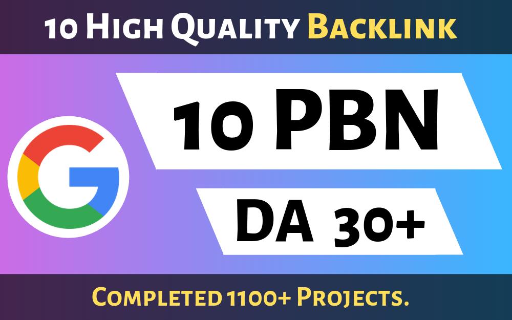 10 Powerful PBN High DA 30+ DOFOLLOW Backlinks