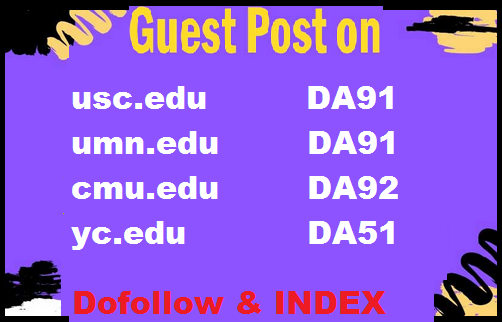 Guest Post on Top Universities. edu sites High DA and DR