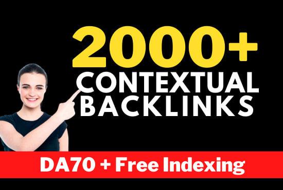DA 70+ high quality dofollow backlinks,  1 URL and 10 Keywords maximum