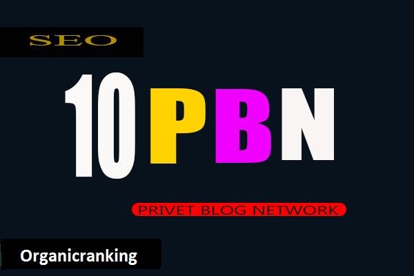 Build 10 high pa da tf cf pbn backlinks homepage quality links