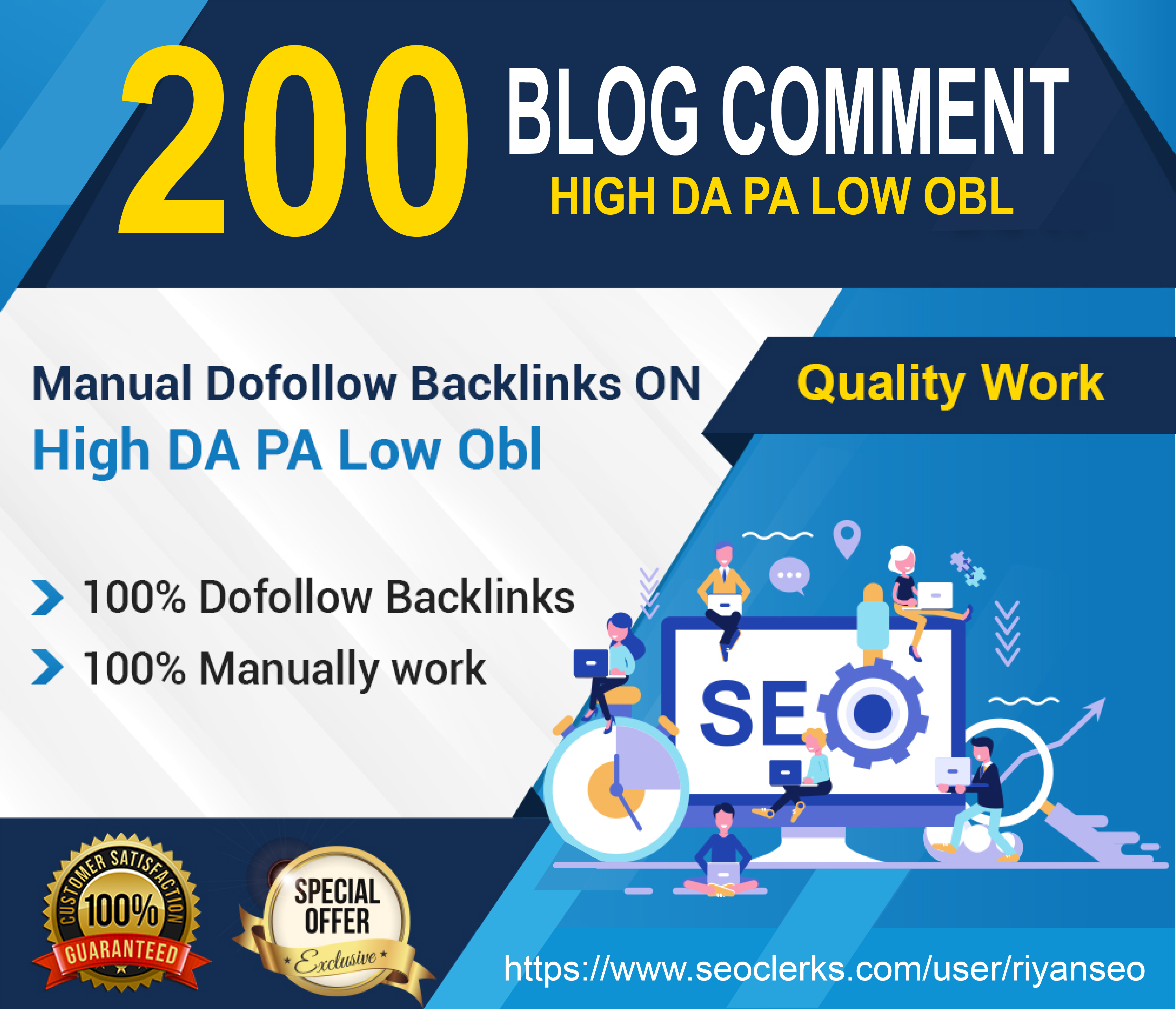 I will do 200 unqiue domain dofollow blog comments backlinks On high DA, PA