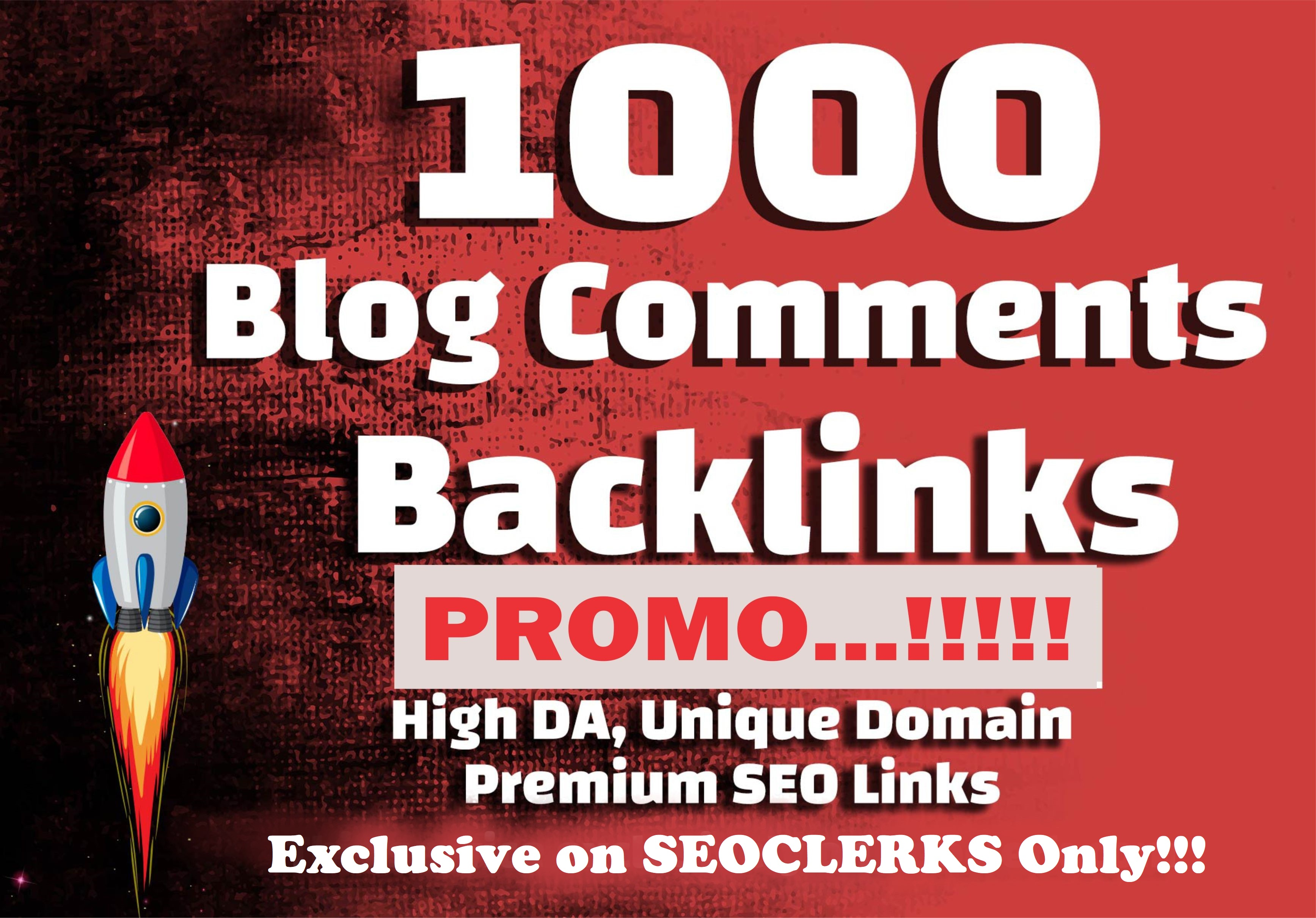 1000 Unique Dofollow Blog Comments Backlinks High DA PA to increase your google ranking