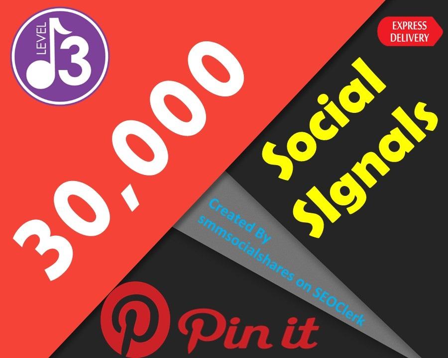 Latest OFFER 30,000 Real SEO Social Signals PR9 Pinterest Share No1 Social Media Bookmark