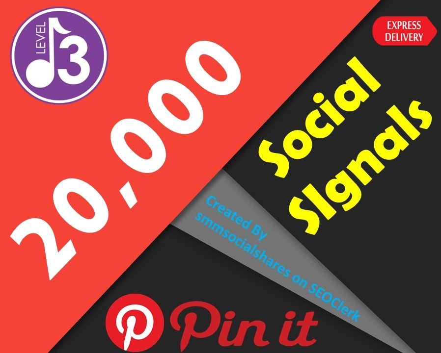 Express Delivery 20,000 Pinterest Share Social Signals Important For SEO Ranking